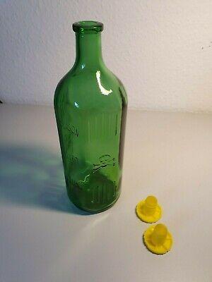 Alte Giftflasche Totenkopf Glasflasche (1 Liter) grün Arzt Apotheke *unbenutzt* 4