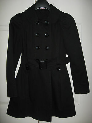 New Girls Clothes Black School Uniform Coat Fashion Double Breasted 15-16 Years 2