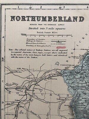 Vintage NORTHUMBERLAND Map 2