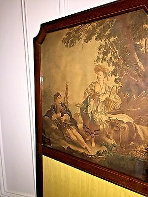 Antique ENGLISH Room Divider SCREEN ~1890s 9