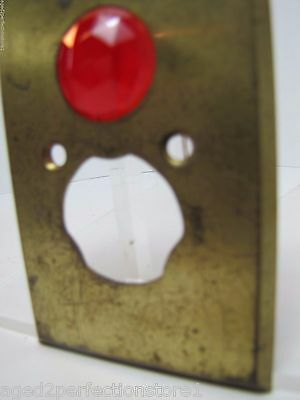 Antique Architectural Red Jeweled Glass Electrical Switch Cover Outlet Hardware 7