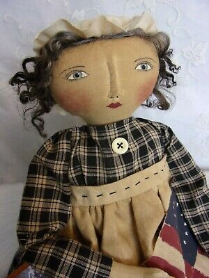 PATTERN,Sewing,Primitive dolls,Americana,Betsy Ross, Dumplinragamuffin, #290 2
