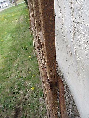 Antique Victorian Iron Gate Window Garden Fence Architectural Salvage Door #313 4