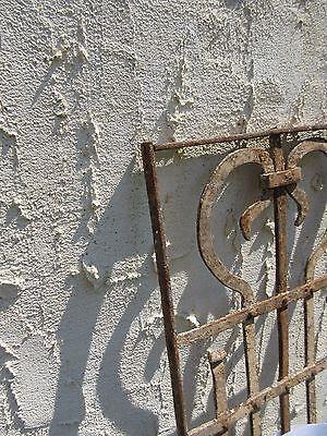 Antique Victorian Iron Gate Window Garden Fence Architectural Salvage Door #664 4