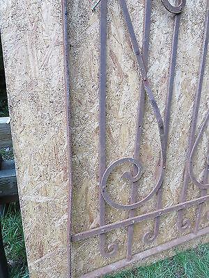 Antique Victorian Iron Gate Window Garden Fence Architectural Salvage Door FFF 4