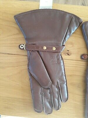 Vintage Fownes  Brown Leather Gloves, Wool Lined, Ideal For Vitage Motoring 4