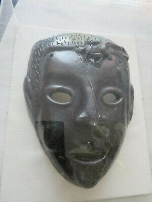 Antique Roman Greek Framed Clay Mask 2