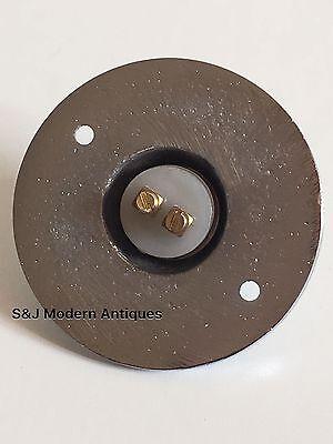 Round Door Bell Antique Mains Wire Vintage Push Button Chrome Victorian Doorbell 5
