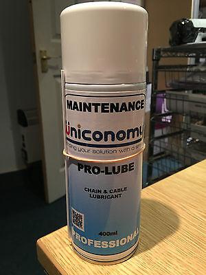 Kette und Kabel Lubrikant 400ml SchmierÖl Sprüh Öl Kettenrad Kettenblatt