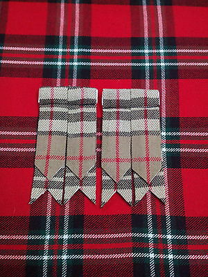 T C Scottish Tartan Camel Thomson Kilt Flashes/kilt Hose Sock Flashes Thomson 3