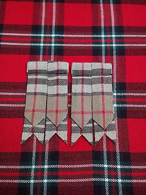 T C Scottish Tartan Camel Thomson Kilt Flashes/kilt Hose Sock Flashes Thomson 3
