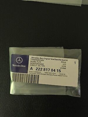 Mercedes-Benz AMG Front Grille Badge-A C E S CLA CLS G A45 E63 X156 W212 205 Uk 6