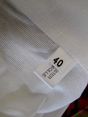 NOS TRUE VINTAGE T-Shirt Shirt gr. 40 Oberteil weiß 70er alter Lagerfund 70s old