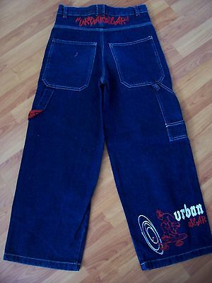 Blue cotton denim jeans from Urban Skatewear, Age 9-10 years 2