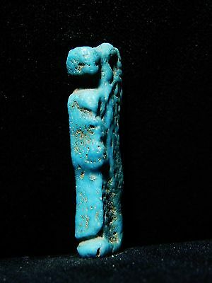 Zurqieh - Ancient Egypt . Beautiful Son Of Horus Amulet,  1075 - 600 B.c 3