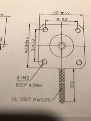 Vexta Stepper Motor C031E-9012 2-Phase DC 4.4 V 1.1A 3