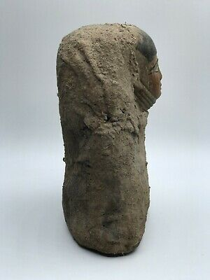 RARE EGYPTIAN ANTIQUES EGYPT STATUE Head Mask PHARAOH Carved STONE 1200 BC 4