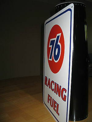 UNION 76 Racing Fuel Gas Pump SIGN Service Station unicol oil Ad Logo Free Ship 4