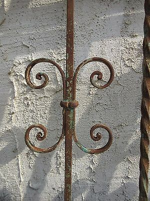 Antique Victorian Iron Gate Window Garden Fence Architectural Salvage #924 5