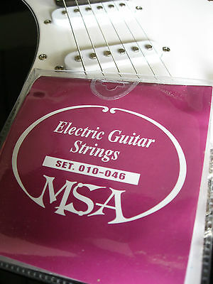 DREI SATZ E-Gitarrensaiten - MSA Markenqualität -Stahlsaiten Stärke 010-046 SK50 2