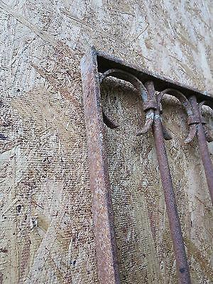 Antique Victorian Iron Gate Window Garden Fence Architectural Salvage Door GGG 11