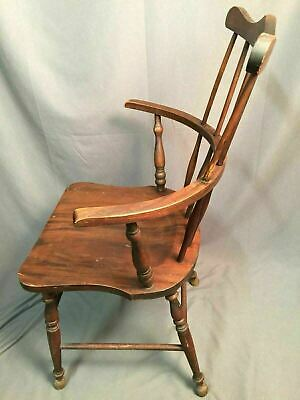 Antique Spindle Back Bow Wood Chair Made In USA 2