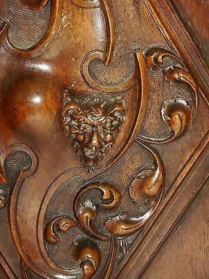 Fabulous lot of 2 French Antique Carved Oak Wood Door Panel, Gothic pattern 5