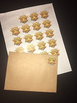 20 Owl Post Faux Postage Stamps For Harry Potter Hogwarts Acceptance Letter