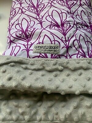 Used ~Mikayla Pattern Baby Carseat Cover Canopy Couture Brand~ Excellent Cond 4