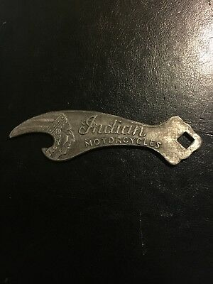 Indian Motorcycle Bottle Opener Solid Aluminum Metal Patina Beer Brewery G/Vg 2