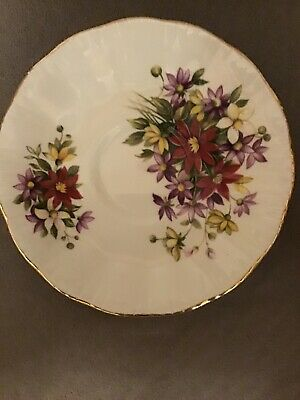 Excellent Paragon Bouquet Flower Festival Cup And Saucer 1# Quality England 6
