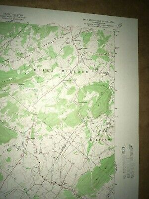 E. Greenville PA Montgomery USGS Topographical Geological Survey Quadrangle Map 3