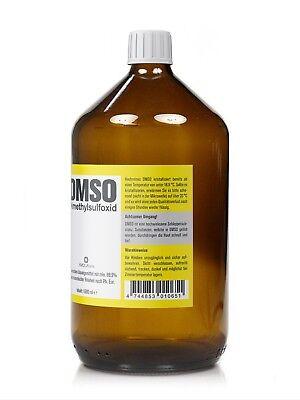 DMSO 1000ml Dimethylsulfoxid, über 99,9% Reinheit (Ph. Eur.) in Braunglasflasche