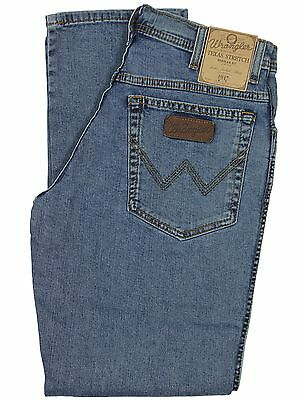 WRANGLER BNWT MENS TEXAS STONE WASH STRETCH REGULAR FIT JEANS 30 TO 50