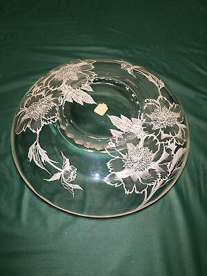 Large Serving PLate / Bowl Trimmed With Sterling Silver 3