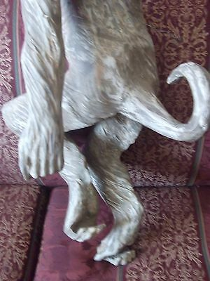 rare antique /vintage very large hand carved monkey 6