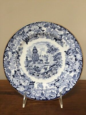 Antique Wedgwood CHINESE BLUE Etruria Luncheon Plates ~ Set of 6 6