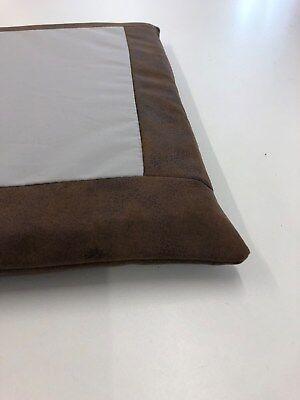 Sitzkissen Sitzauflage Polster Auflage Lederlook vintage braun Visko Wunschmaße