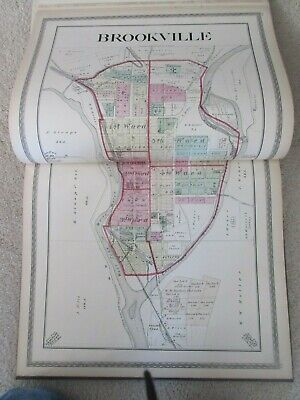 First Atlas of Franklin County Indiana 1882 handcolored maps, ports., landowners 8