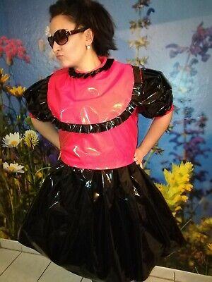 Adult Baby Kleid  INTEGRIERTE Windelhose Sissy PVC LACK Diaper Plastik L-XL 2
