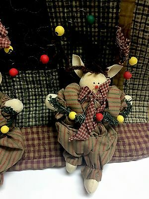 2 of 5 Christmas Primitive Elf Ornaments Primitive Christmas Decor Christmas Elf Dolls