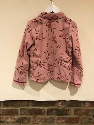 Monsoon Lovely Girls Pink Jacket Age 6-8 Years Very Good Condition 3