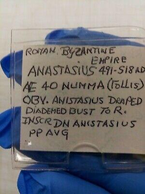 ANASTASIUS 491AD Ancient Medieval Byzantine Follis Constantinople Coin i79944 8