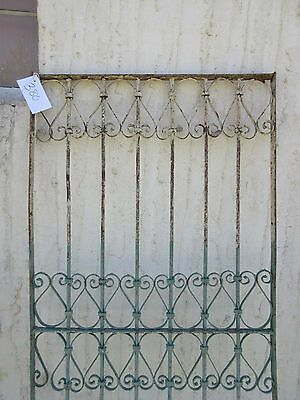 Antique Victorian Iron Gate Window Garden Fence Architectural Salvage Door #380 3