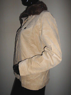 Forme de Pointe Court Fil Ruban Beige Gina Laura /% Soldes/% Veste Tricotée