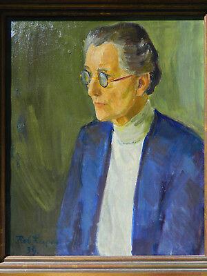 Robert Leepin 1885 1967 Portrait Femme Tableau Peinture Huile