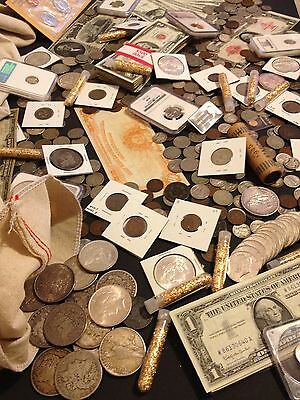 ✯Estate Sale Lot Old Us Coins✯Currency✯Pcgs Ngc✯Gold Silver Bullion✯50 Years+✯ 3