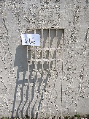 Antique Victorian Iron Gate Window Garden Fence Architectural Salvage Door #666 3