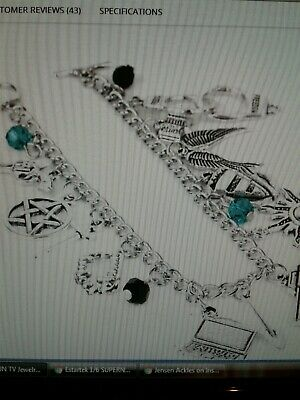 SUPERNATURAL BRACELET WITH SAM DEAN CASTIEL BOBBY AND CROWLEY ITEMS  Silver 3