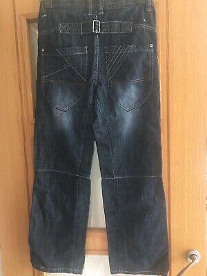 NEXT Boys Blue Jeans Age 12 Years Straight Fit Issue 849KS761 Adjustable Waist 6
